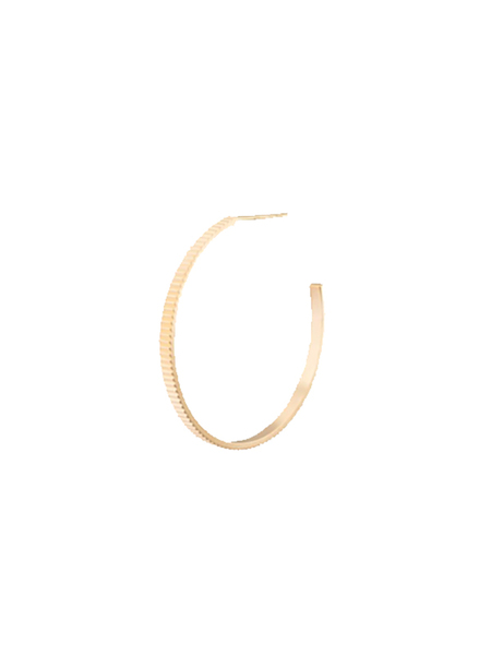LILIAN V TRAPP STRUCTURED CREOLES LARGE - 14k Yellow Gold