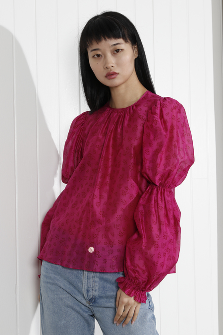 Ulla Johnson Aster Blouse - Fuchsia