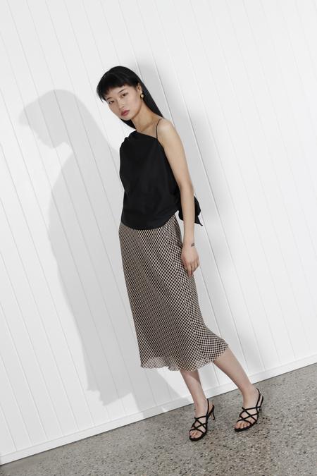 Nanushka Zarina Skirt - Black/Camel