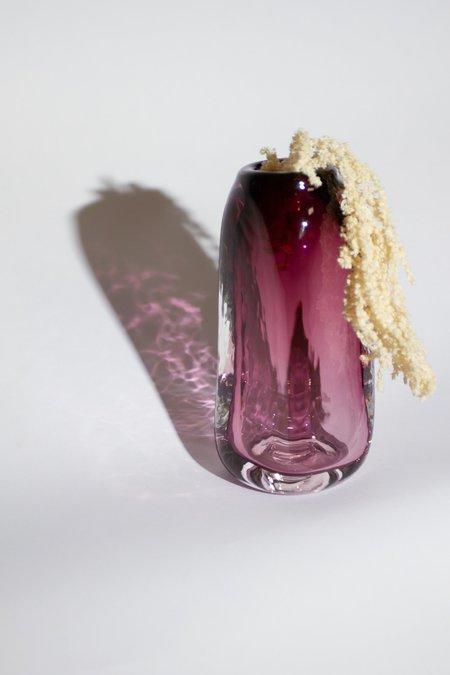 Bale Fire Glass Tall Suspension Vase - Aubergine