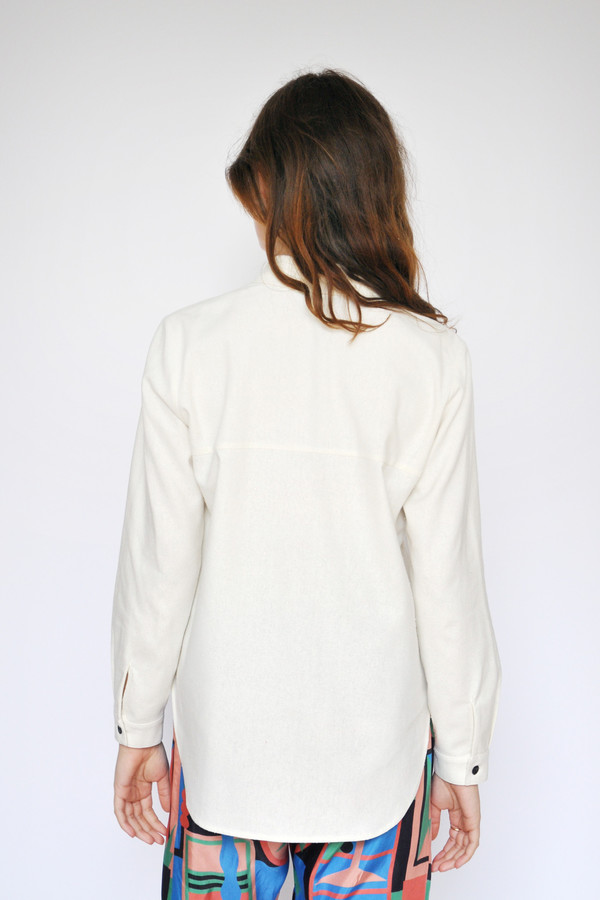 Dusen Dusen Ivory Collared Buttonup