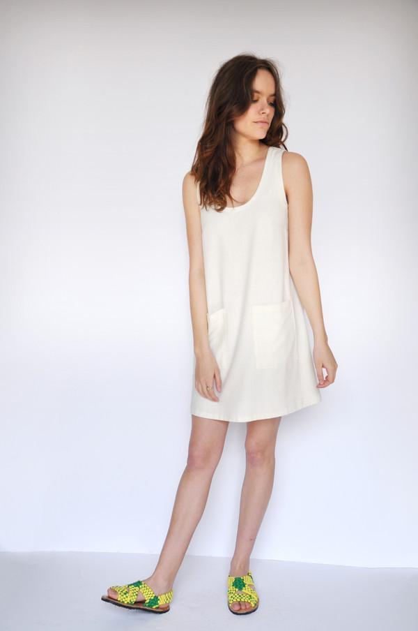 Dusen Dusen Ivory Pocket Tank Dress