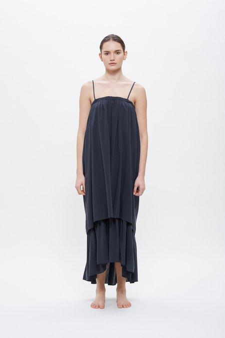 Black Crane Double Cami Dress - Faded Black