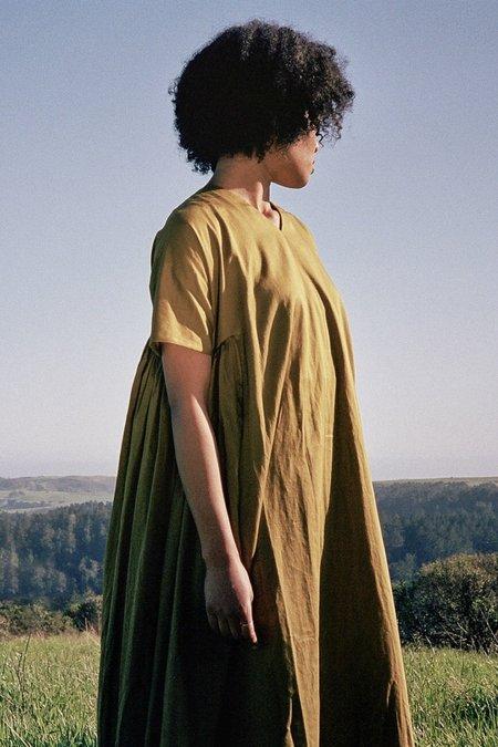 Black Crane Petal Dress -  Olive