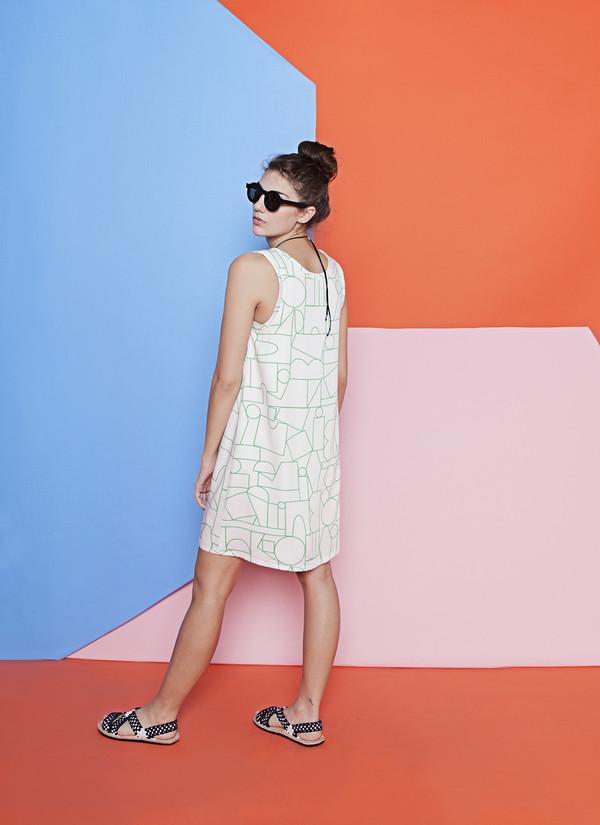 Dusen Dusen Blockhead Green Tank Dress