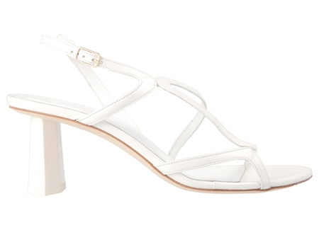 81dc4b7104 BY FAR Brigette in Optic White Leather