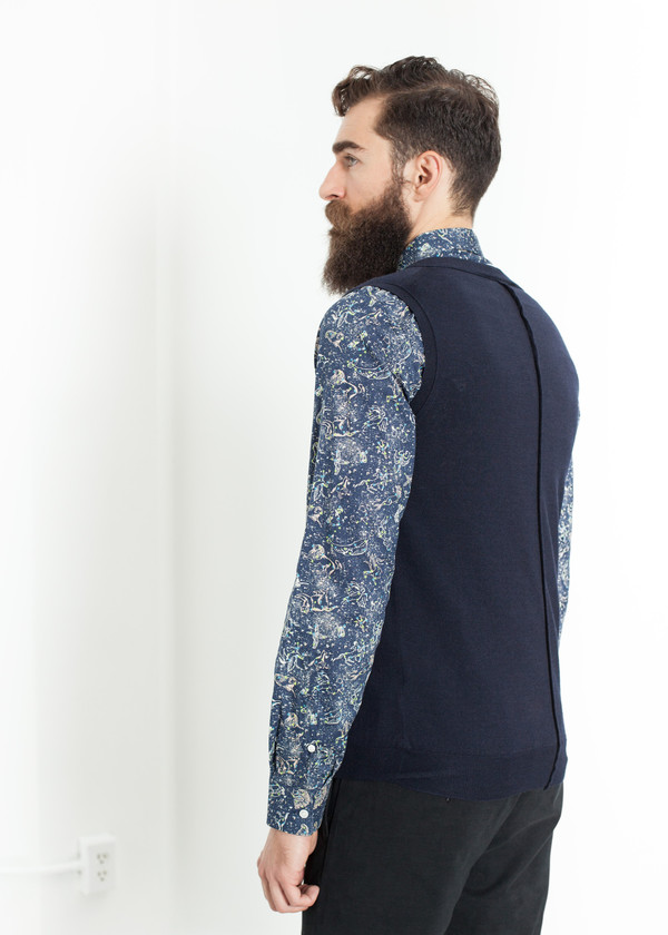 Mauro Grifoni Basic Gilet in Navy