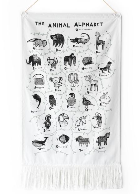 KIDS Wee Gallery Animal Alphabet Wall Hanging