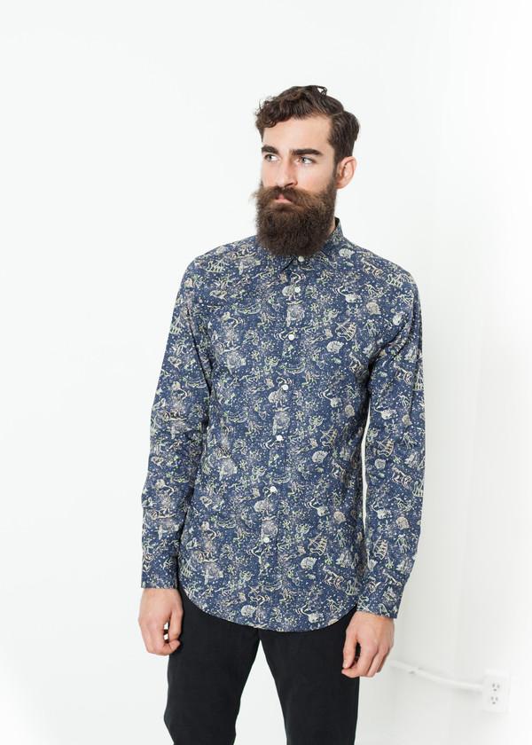 Men's Mauro Grifoni Camicia Slim Shirt in Celestial
