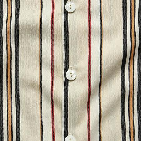 House of St. Clair Marrakech Vacation Shirt - Neutral/Red Stripe