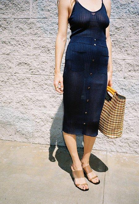 Maryam Nassir Zadeh Jasmine Knit Skirt - Navy