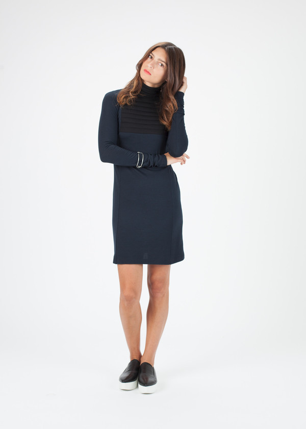 Hache Long Sleeve Ribbed Dress