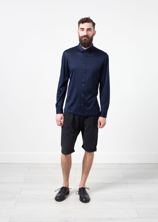 Men's Mauro Grifoni Scotland Button-Up in Navy