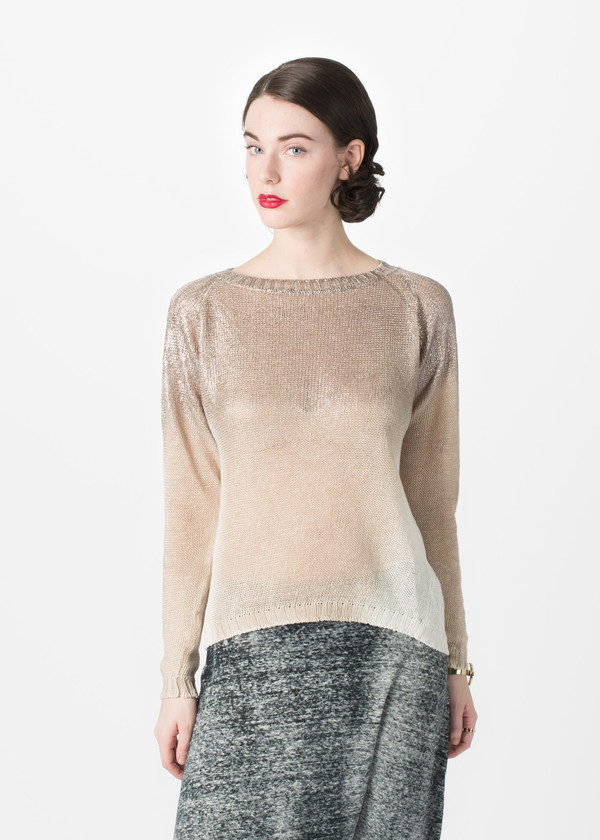 Avant Toi Shimmer Jersey Top