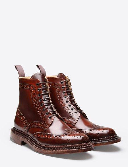 Grenson Fred Triple Welt Boot - Mahogany