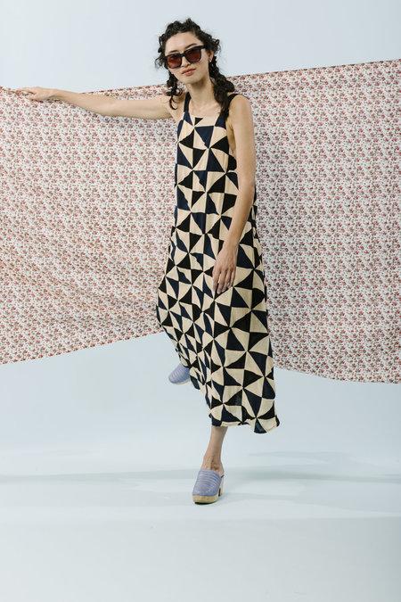Carleen Patchwork Picnic Dress - MULTI