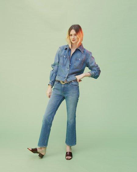 B Sides Cropped Shirt Jacket - Vintage Wash