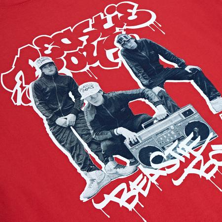 Fact Brand Beastie Boys Photo Short Sleeve Tee - Red