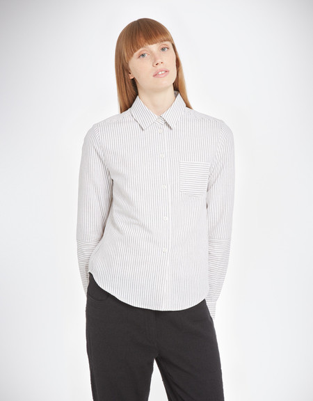 YMC Linen Stripe Shirt