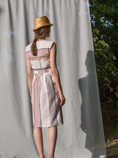 Eve Gravel Fleur D'oranger Dress - stripe