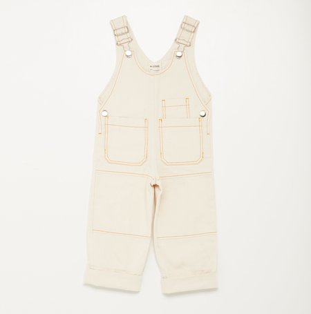 KIDS We A Family Sonia Dungaree Overalls - NATURAL