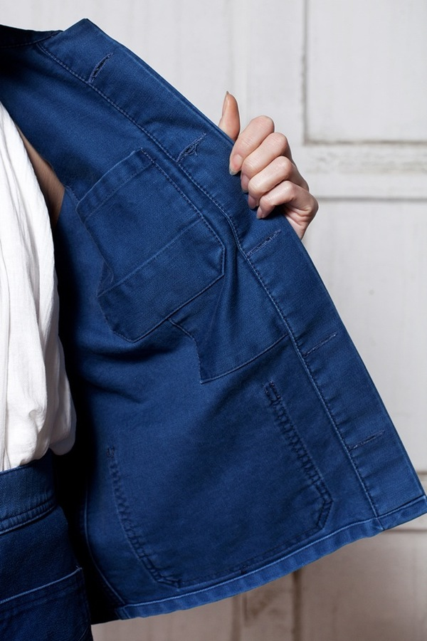Caron Callahan Krasner Jacket - indigo twill