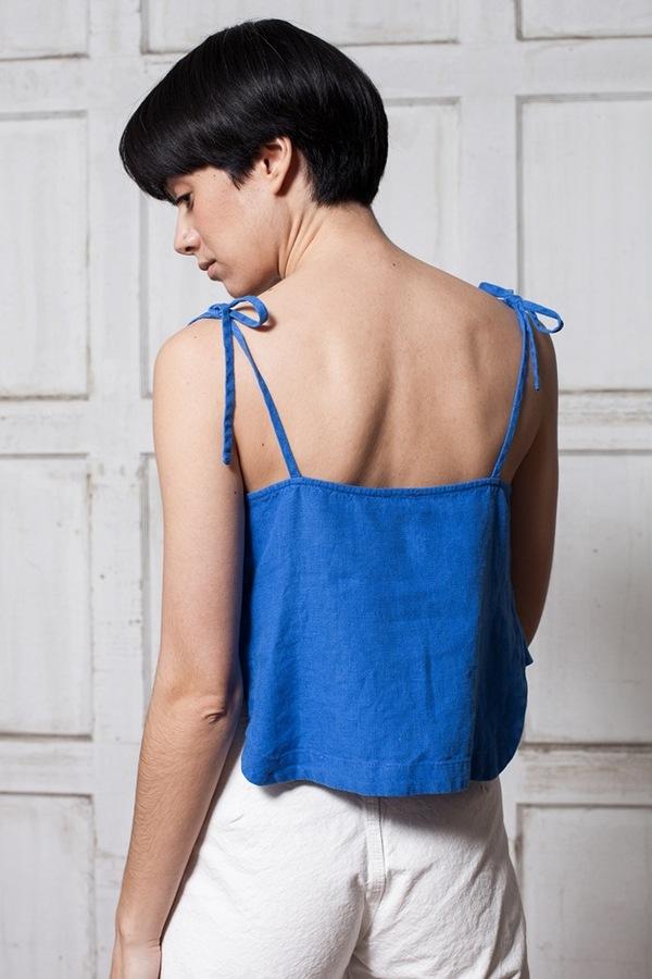 Rachel Comey Sol Crop Top - blue