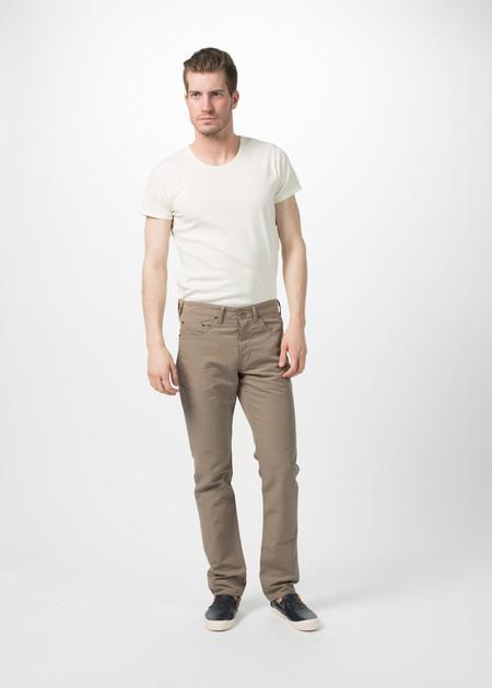 Shockoe Atelier Linen Five Pocket Trouser - tan