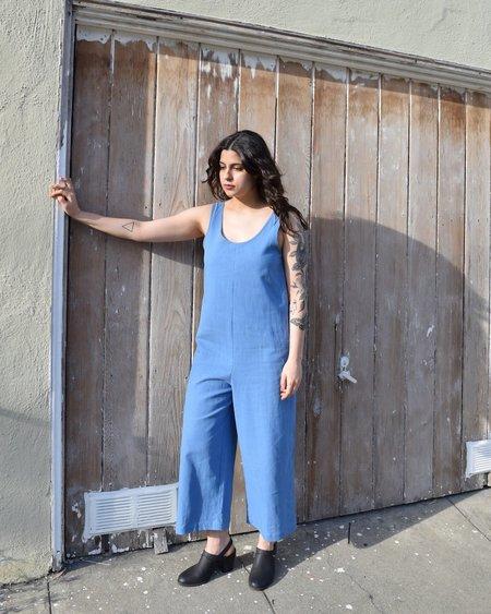 North Of West Riviera Linen Jumpsuit - Bright Blue