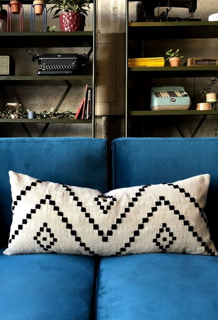 San Junipero Textile Studio Lumbar Soleil Pillow Cover - Cream