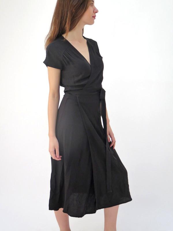 Ali Golden Wrap Dress