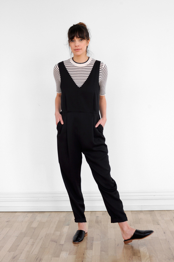 Waltz Double-Pleat Jumpsuit in Black
