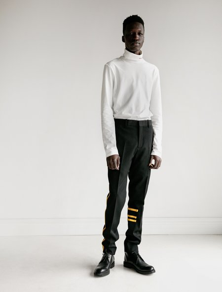 Calvin Klein Wool Gabardine Cigarette Contrast Binding Pants