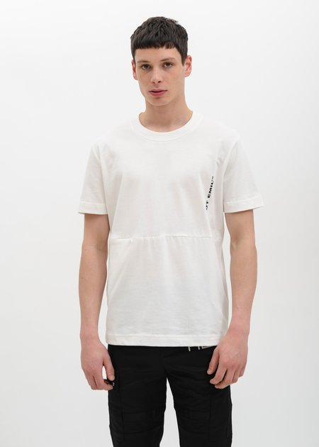 Heliot Emil T-Shirt with Zipper Opening - White