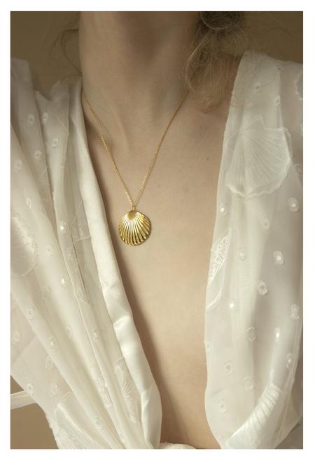 Vayu Sirena Necklace - 14kt Plated Brass