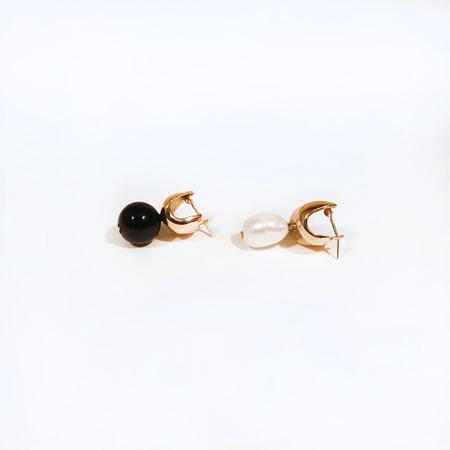FARIS onyx and pearl chub drops - Bronze