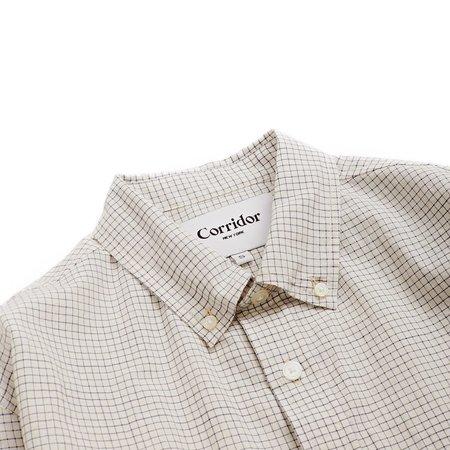 Corridor Shirt - Natural/Navy Tattersal Check
