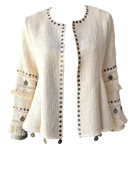 SPELL & THE GYPSY COLLECTIVE Alphie Jacket - CREAM