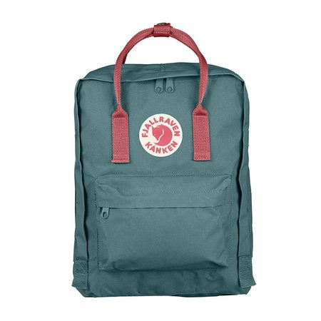 Kids Fjallraven Kanken Bag - Frost Green/Pink Peach