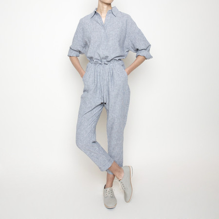 7115 by Szeki Drawstring Relaxed Pant- Stripe SS16
