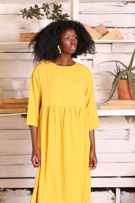 """""""INTENTIONALLY __________."""" Elas Dress - Mustard"""