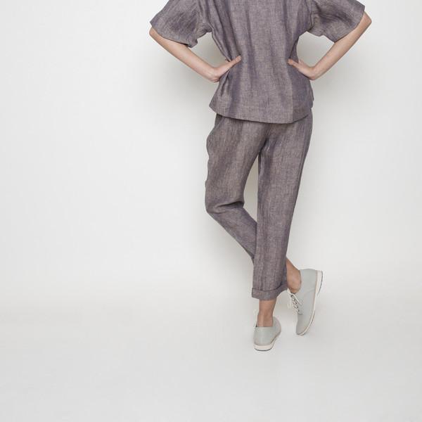 7115 by Szeki Linen Drawstring Pant R16- Blush