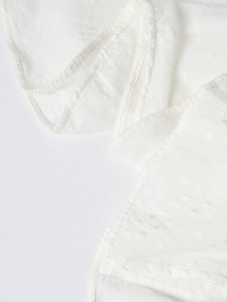 Innika Choo Hugh Jesmok MIDI SMOCK - White Spot Ramie