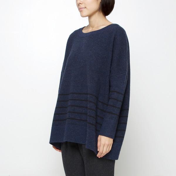 7115 by Szeki Oversized Striped Sweater