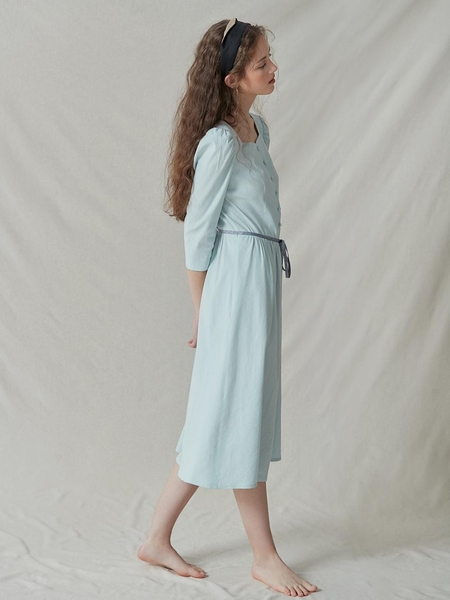 Akro Button Midi Dress