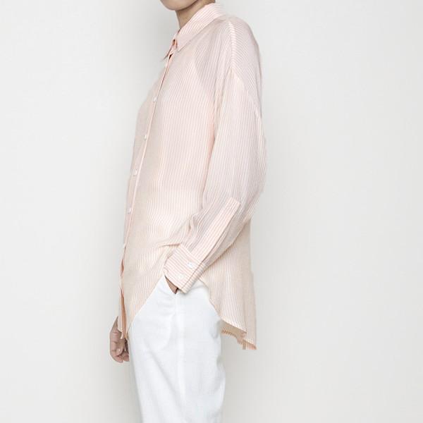 7115 by Szeki Striped Dolman Shirt R16- Blush Stripes