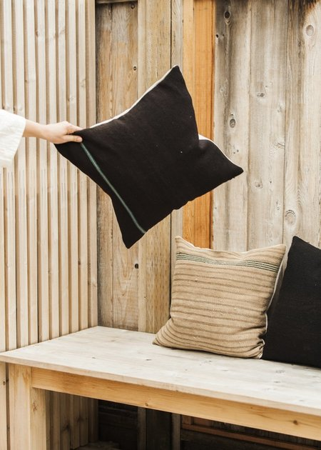 C+L Finds Vintage Peruvian Poncho Pillow Cover