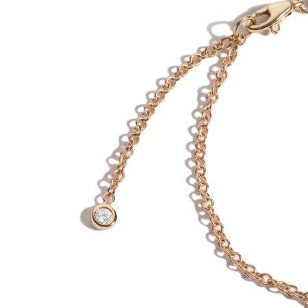 Shahla Karimi Birthstone Baguette Bracelet with Diamond Dangles