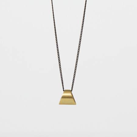 7115 by Szeki Trapezoid Drop Necklace