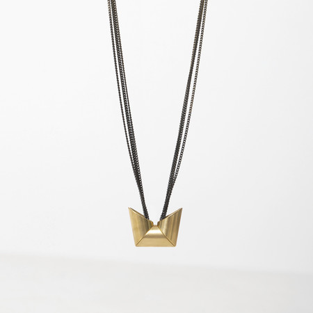 7115 by Szeki Triple Trapezoid Necklace